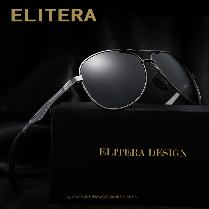 ELITERA Men Polarized Sunglasses 2020 Classic Design Male Aluminum Magnesium Sun Glasses Driving Eyewear For Men/Women