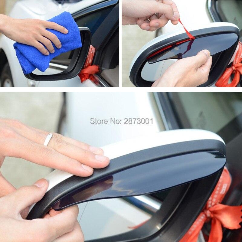 2 uds accesorios del coche pantalla para lluvia del espejo retrovisor para fiat punto ix35 renault sandero renault logan fiesta fiat 500 mini cooper