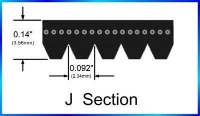 Excelente calidad 190J10 483J cinturón serpentino correa poly-V