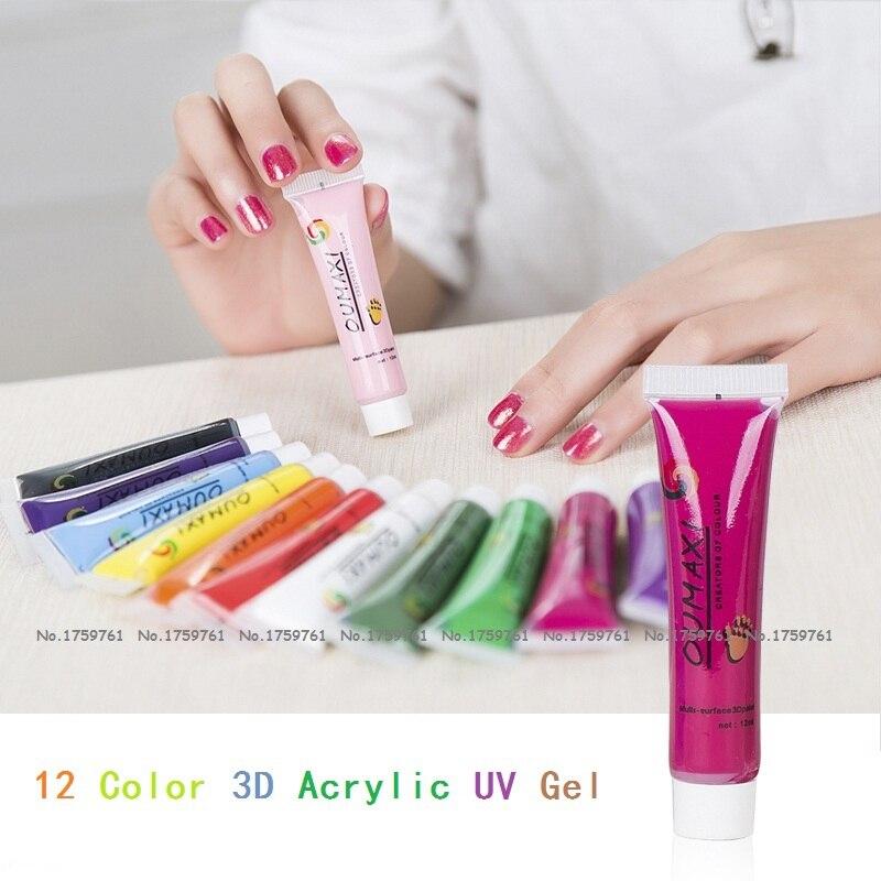 УФ-гель для ногтей Oumaxi, 12 шт./компл., 12 цветов, УФ-гель для ногтей, УФ-лак для ногтей, 12 мл./шт.