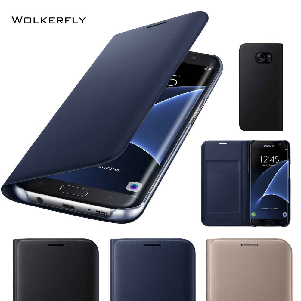 Оригинальный кожаный флип-чехол для телефона Samsung Galaxy S10e S10 S9 S8 Plus Note9 s7 S6 edge A8 A3 A5 J7Prime, задняя крышка со слотом для карты
