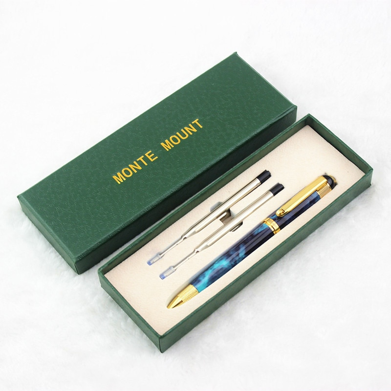 Bolígrafo ejecutivo de alta calidad, juego de adorno dorado, bolígrafo de 0,7 MM