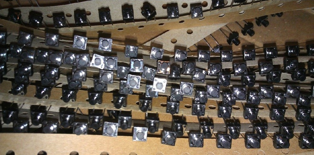[BELLA] potentiometer-Japanese original Japanese Alps ALPS Tact Switch 6X6X7 2 feet blackheads--100pcs/lot