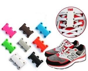 2 piece 8 Colour ShoeLaces Magnetic Shoelace Buckle Lazy Closures Lacet Chaussure Shoe Laces No to Tie lazy Shoe laces