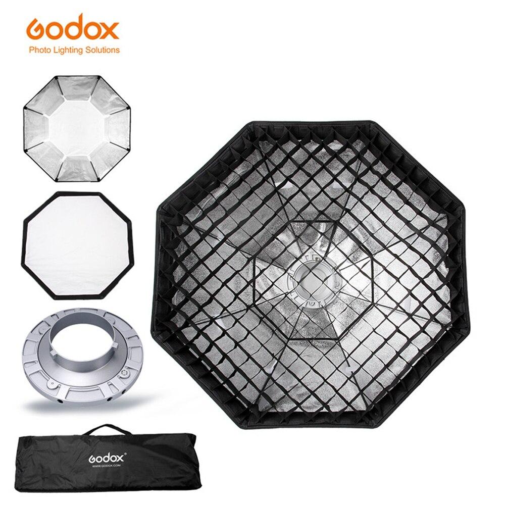 """Softbox godox 120cm 47 """"Octagon panal rejilla Softbox con montaje Bowens para Flash de estudio"""
