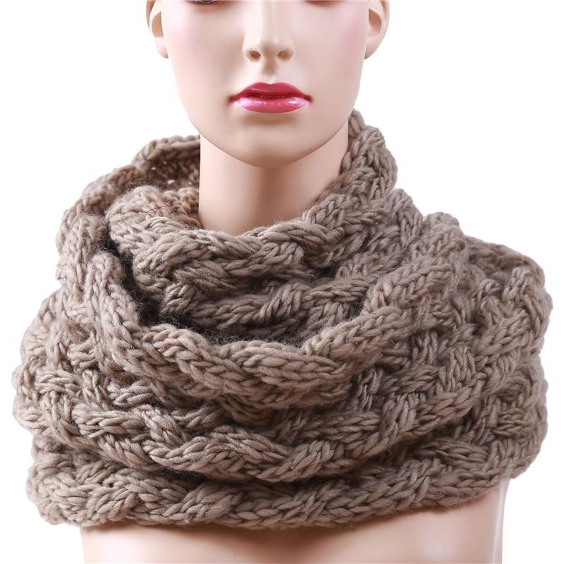 Bufanda de invierno 2019 con anillo de Cable para mujer, Bufandas infinitas tejidas, Bufandas cálidas con cuello circular, Bufandas Cuellos gran oferta