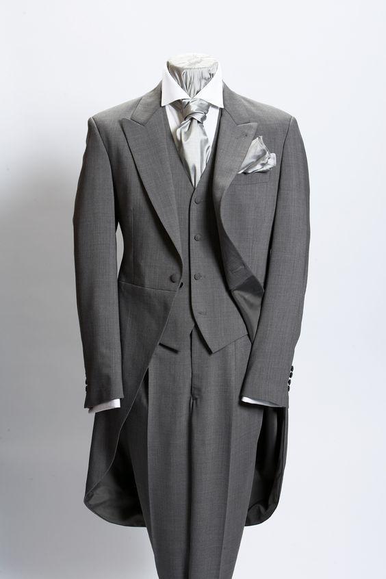 Abrigo de boda gris hombre mejor traje de la mañana un botón novio esmoquin negocios C153