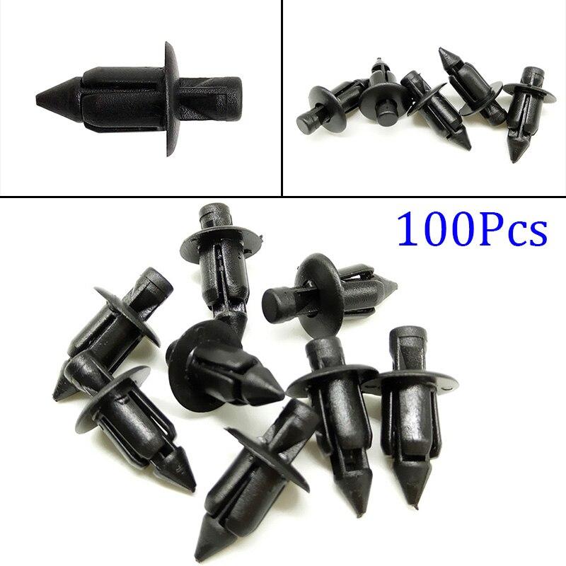 Clips de sujeción negros para carenado de bicicleta, remache de Panel de defensa, pieza de retenedor para Honda