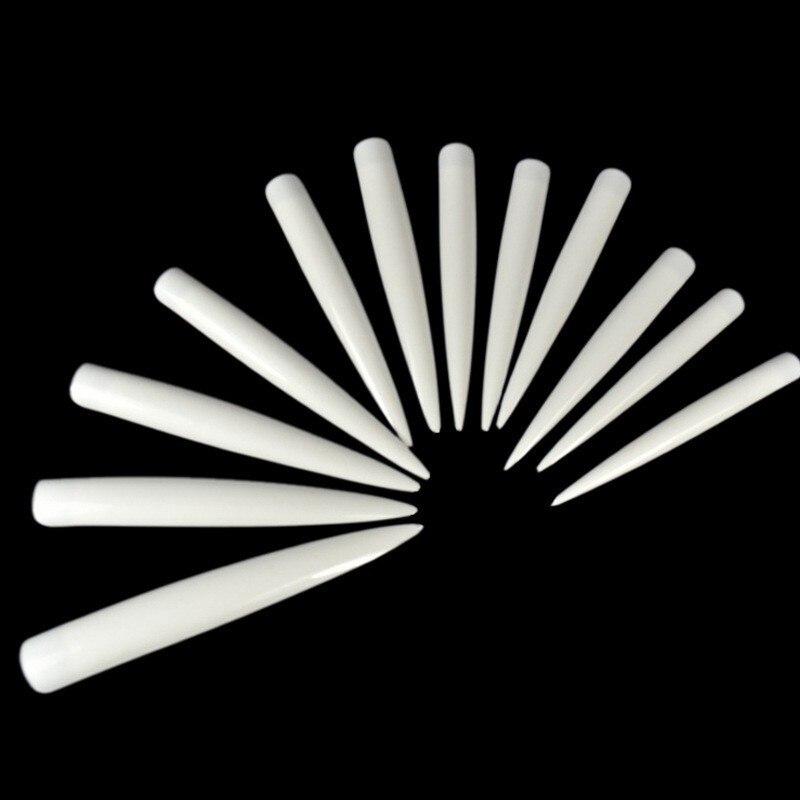 Venta al por mayor manicura transparente/Neutral arte francés consejos 10 unids/bolsa transparente salón largo pantalla falso uñas 300 unids/lote envío gratis