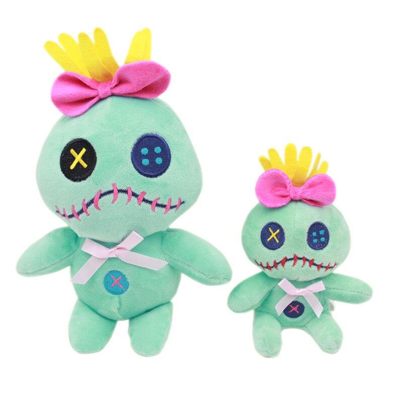 Disney 20cm Kawaii Lilo y Stitch Scrump juguetes Stich peluches suaves juguetes de peluche para niños regalo de cumpleaños