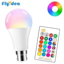 5W 10W 15W LED RGB Light Bulb 220V 110V B22 Magic Changeable Lamp 16 Colors Smart Lampada+IR Control