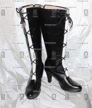 Beelzebub Hilda noir filles longues Cosplay chaussures bottes C006