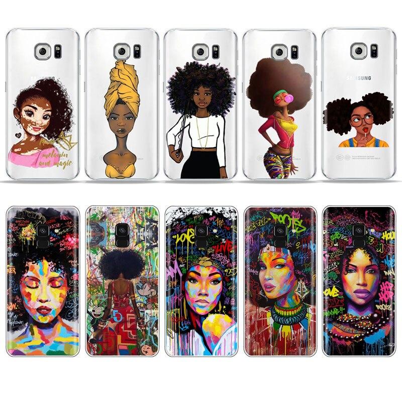 Чехол для телефона Melanin Afros Black для Samsung S10 S9 S8 Plus A30 S7 S6 A50 A70 A9 2018 S10E, мягкий чехол из ТПУ
