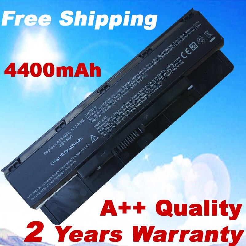 4400 мАч аккумулятор для ноутбука ASUS A31-N56 A32-N56 G56 G56J G56J G56JK G56JR N46 N46J N46JV N46V N46VB N46VJ N46VM