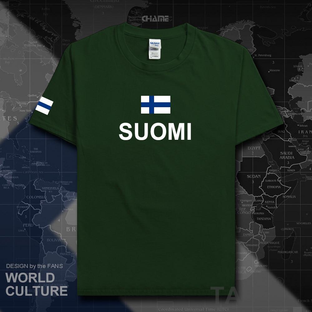 Finlândia equipe nação t-shirt de algodão dos homens t-shirts moda 2017 jerseys reunião roupas de fitness sporting tees país bandeiras FIN FI