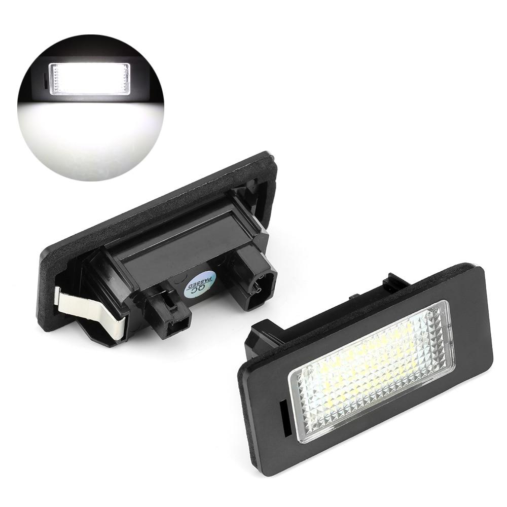 2 шт. без ошибок светодиодные лампы для номерного знака Лампы Canbus белый 6000 К 12 В для BMW E39 E60 E61 E82 E90 E91 E92 E93 X5 X6