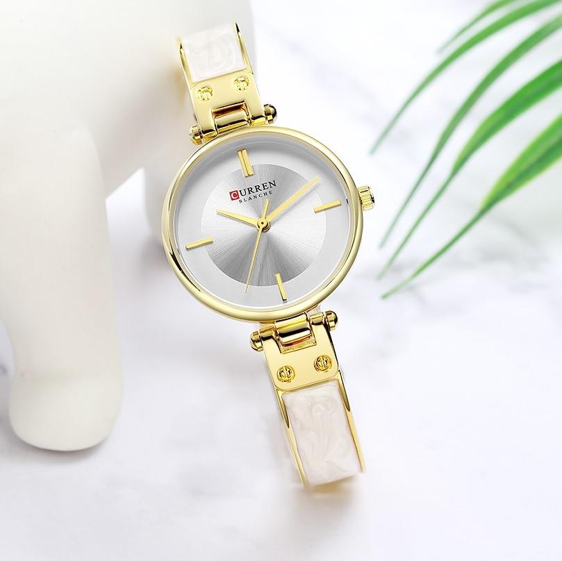 CURREN Luxury Ladies Watch Slim Mini Dial Stainless Steel Strap Bangle Fashion Waterproof Female Quartz Watches Relogio Feminin enlarge