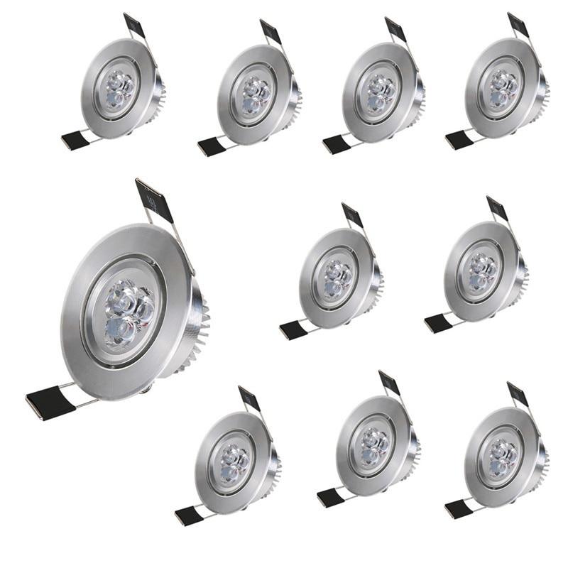 10 قطعة/الوحدة 3W Led النازل 300lm LED راحة مصباح حفرة حجم 55-65 مللي متر 65-75 مللي متر الألومنيوم 110V/220V للإضاءة المنزلية