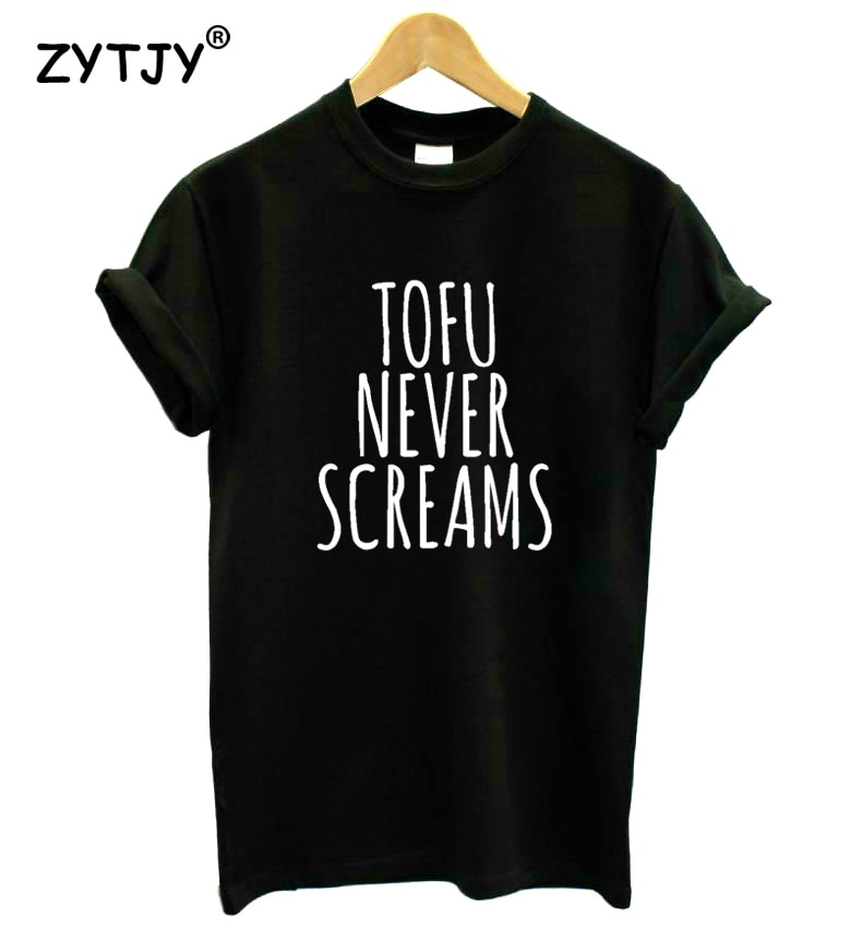 Tofu Never Screams Women Tshirt Cotton Funny t Shirt For Lady Girl Top Tee Hipster Tumblr Drop Ship HH-128