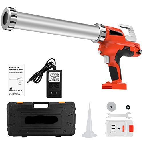Cordless Multifunctional Lithium Ion Electric Caulking Gun Holds 10 Ounce-20 Ounce/300ml-600mlwith 2pcs 20v Lithium Batteries