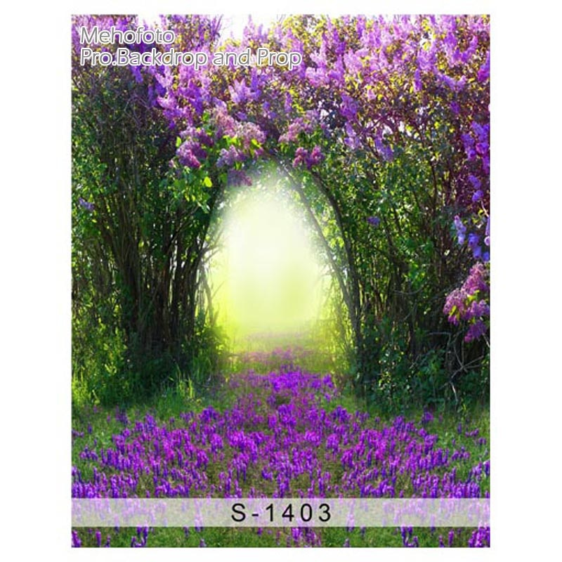 Fondo fotográfico brumoso púrpura flores de lavanda planta recién nacido vinilo telones de fondo fotografía photocall interesante S-1403