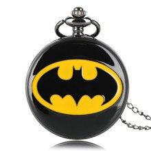 Cadeaux populaires pour enfants enfant garçon Cool Batman montre à Quartz DC Comics montres de poche homme horloge collier pendentif hommes femmes