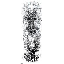 الملاك جاء في العالم لصاقات وشم مؤقت للماء الوشم كامل الذراع الوشم الرجال وهمية الوشم Tatouage Temporaire