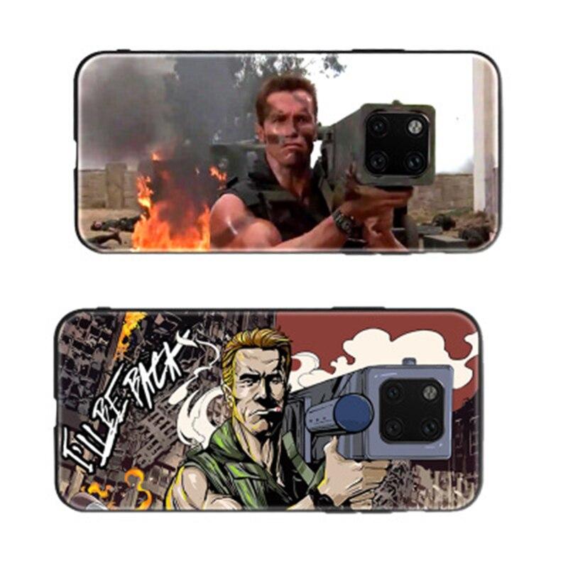 Para Huawei Mate 20 Pro funda HD pintada para Huawei Mate 20 Schwarzenegger cubierta de cristal de artillería Mate 20 pro