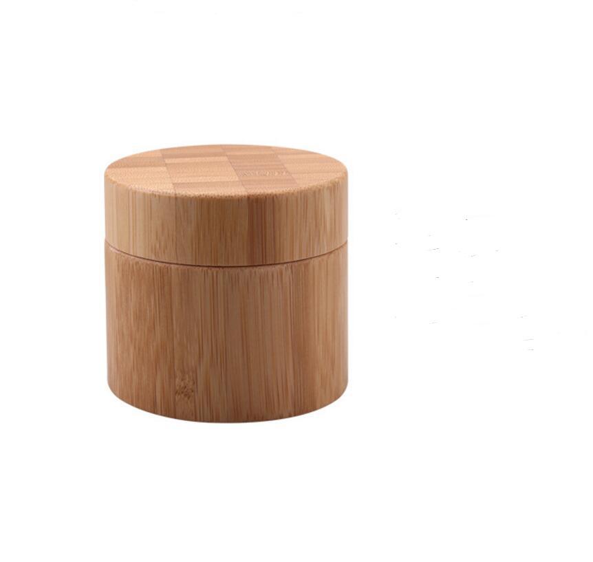 150pcs/lot 30g High grade bamboo Cosmetics cream bottle jar 30ml glass inner cosmetic cream bottle