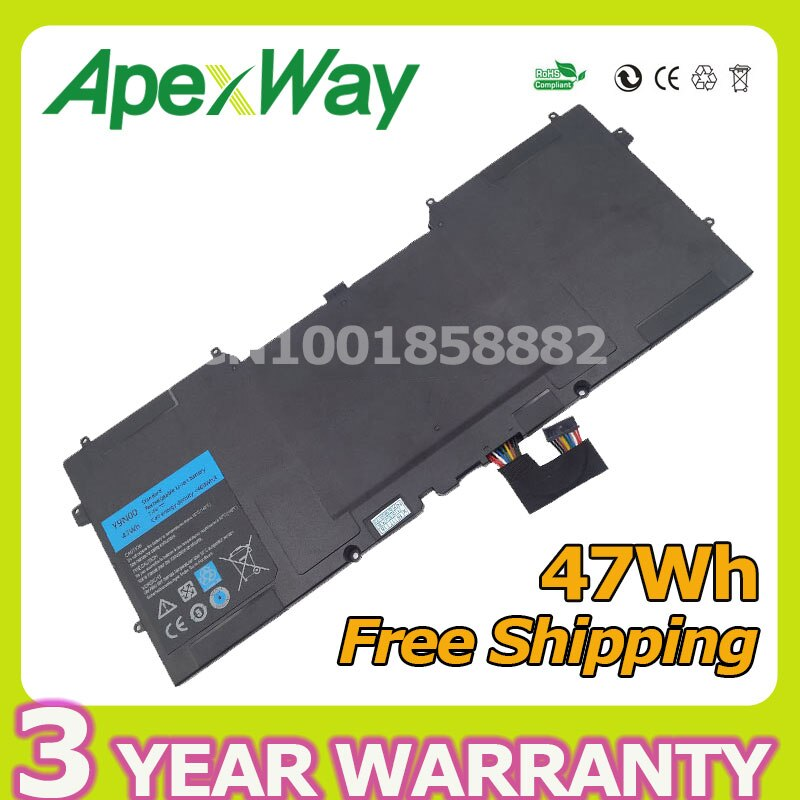 Apexway 47Wh 7,4 В Аккумулятор для ноутбука Y9N00 для DELL XPS 12 XPS 13-L321X XPS 13-L322X XPS L321X серии 3H76R 489XN