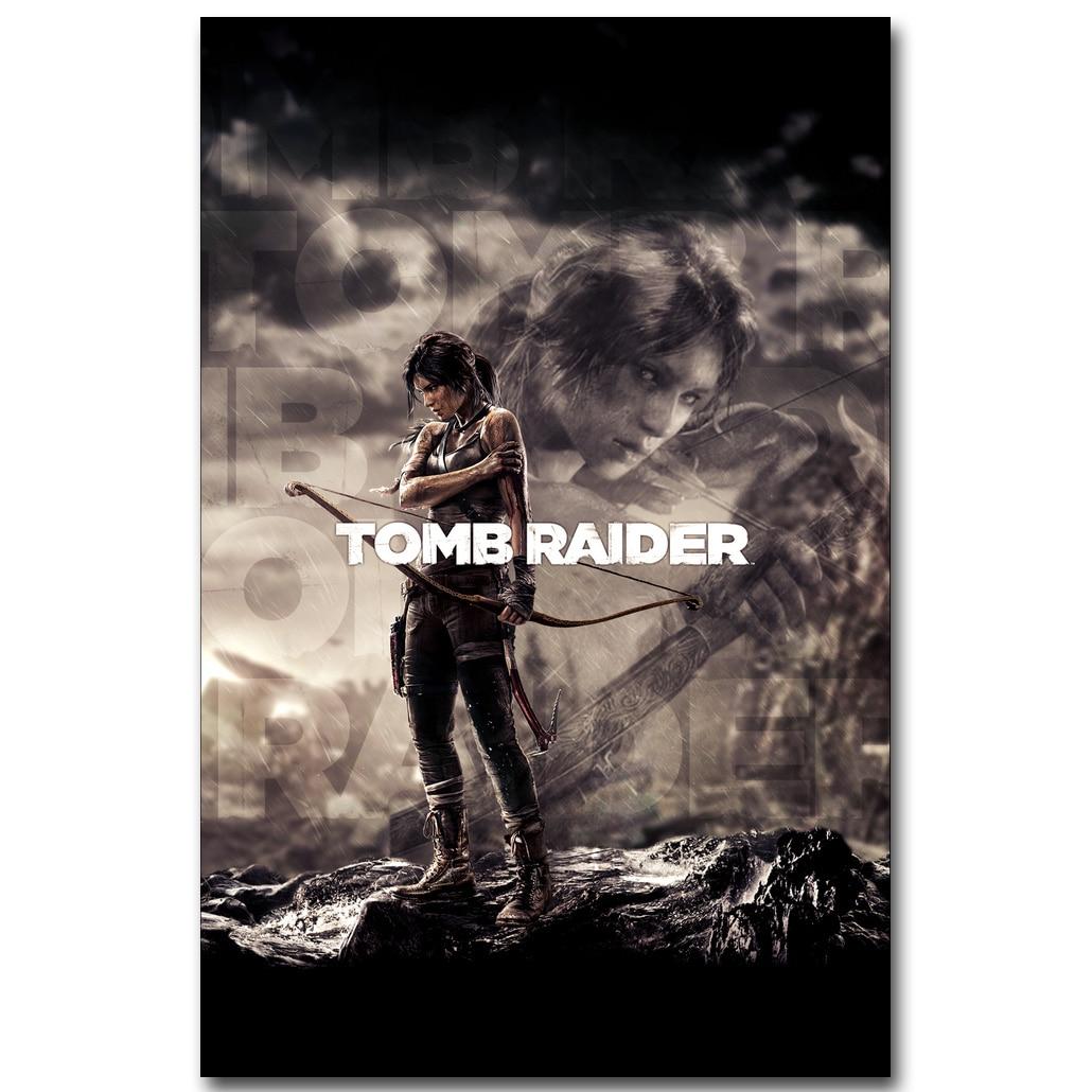 Lara Croft-Rise Of The Tomb Raider художественный постер из шелковой ткани с принтом 13x20 24x36 дюймов Игровые картинки для декора стен гостиной 009