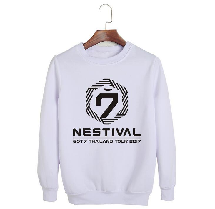 Got7 Tailandia concierto nestival tour mismo nombre del miembro Jersey estampado con cuello redondo hoodies para i got7 unisex sudadera de Kpop