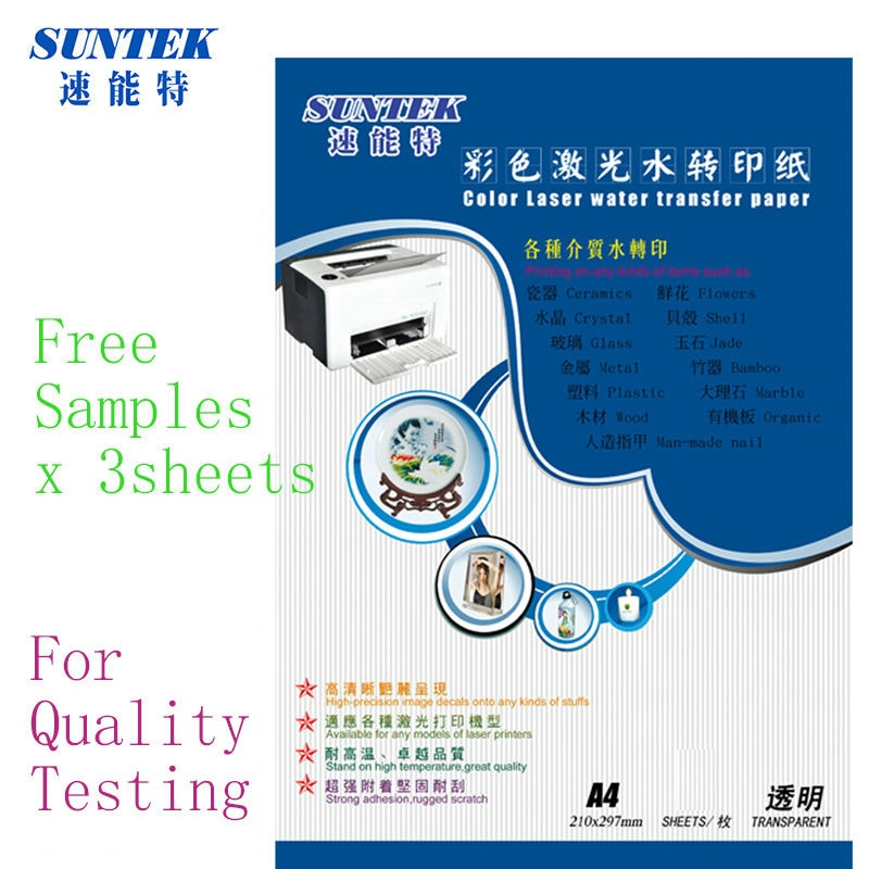 Amostras a4 decalques de água a laser adesivos de papel para unhas transferência de água papel transfert etiqueta do prego slide decalque papel