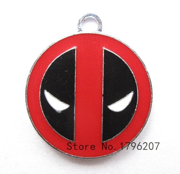 40 Uds Deadpool collar de dibujos animados/pulsera/pendientes colgantes DIY joyería hacer accesorios T-183