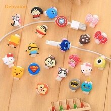 Dehyaton Cartoon Cute Lovely Usb Protector Cable Case Clip For Iphone 6 plus 6s 7plus Cover Winder C