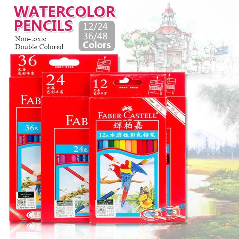 Faber-Castell 48 agua de Color soluble lápices para artista boceto dibujo acuarela lápiz para los niños pintura dibujo