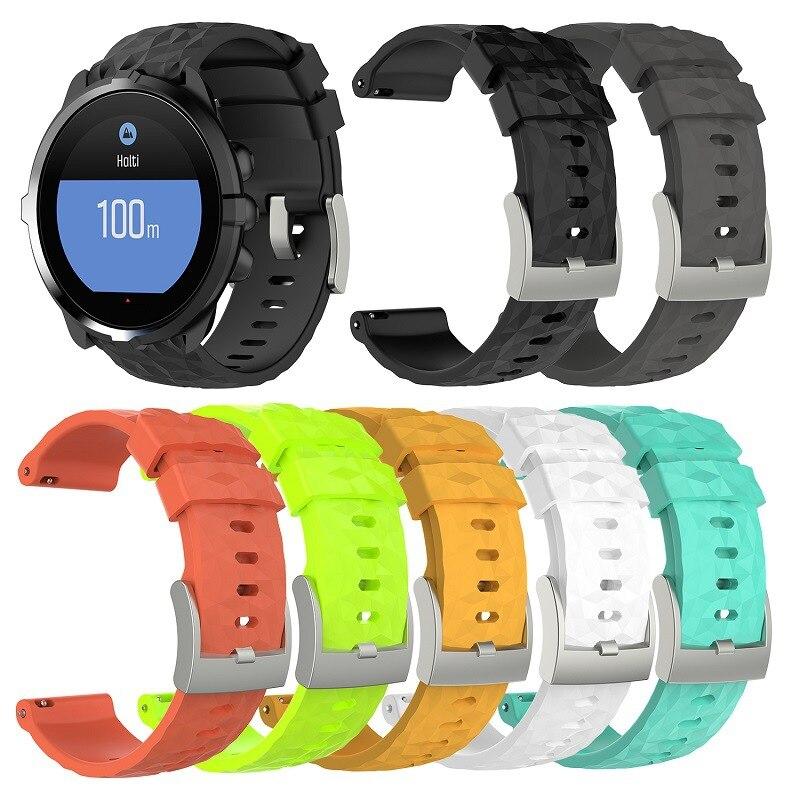 Correa de repuesto para reloj de pulsera de silicona para Suunto 9 D5 D5I Suunto Spartan Sport muñequera HR Baro Traverse Smartwatch