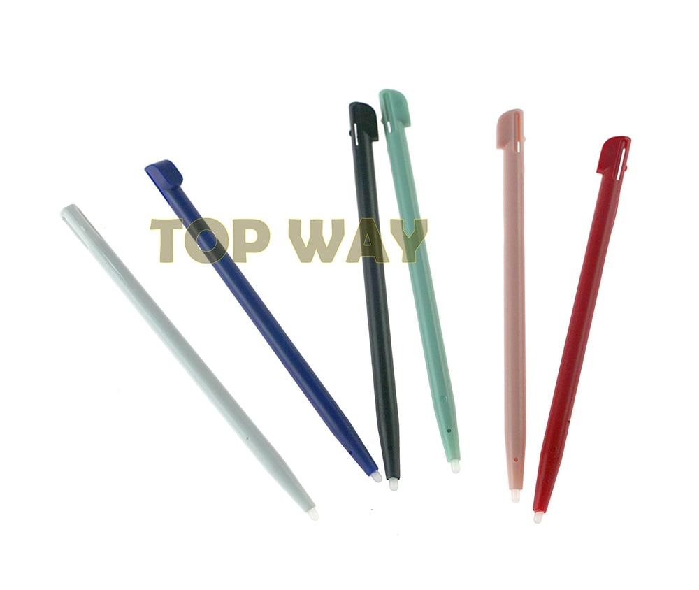 Lote de 300 unidades de lápices táctiles para móvil con pantalla táctil para 2 ranuras para bolígrafo de plástico rígido Stylus para accesorios de consola Nintend 2DS