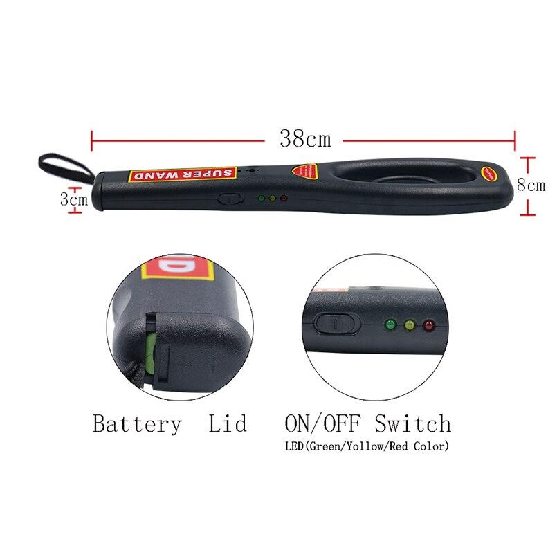 GP-008 Detector de Metales portátil de alta sensibilidad puntero Pin de Metal Detector escáner de seguridad Detector