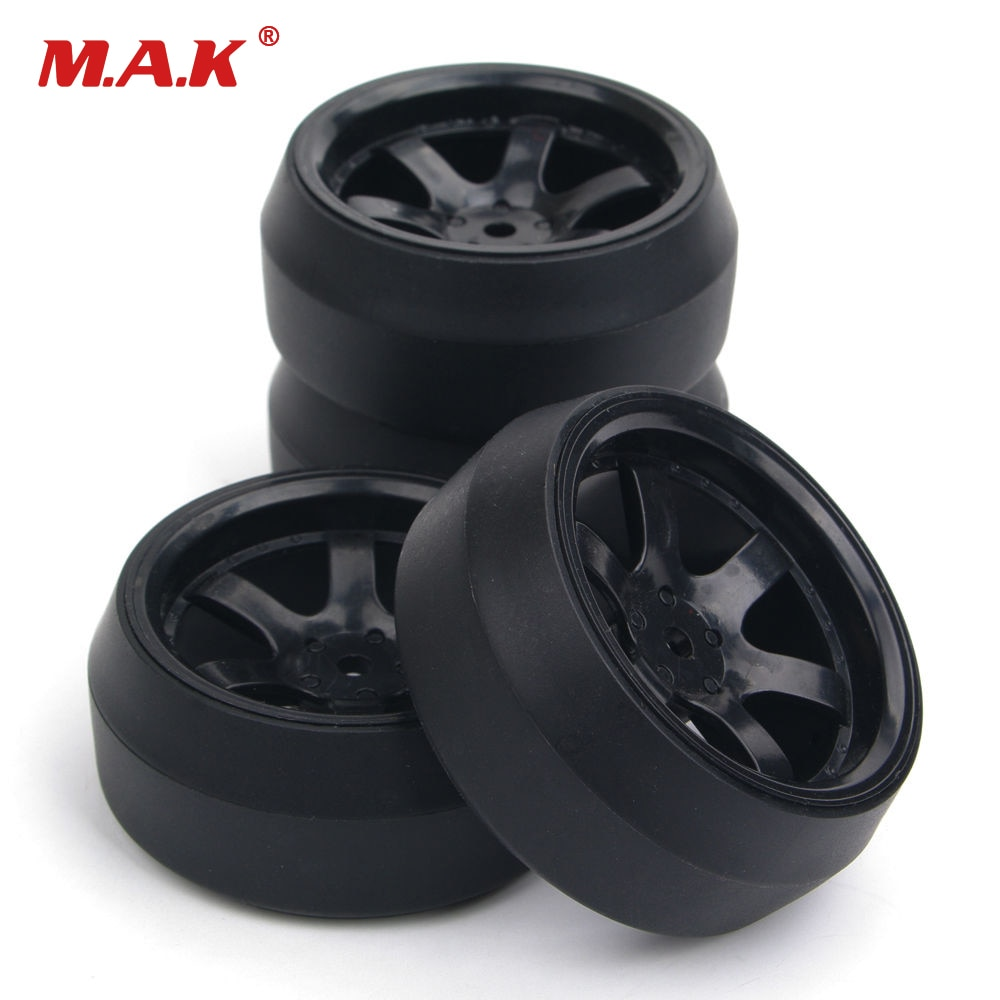 Фото - 4pcs/set 12mm Hex 0 degree RC Drift Tires Wheels and Rims Fit HPI 1:10 RC Car Parts 4pcs 1 64 modified wheels rubber tires with axles and end cap upgrade parts for rc model car