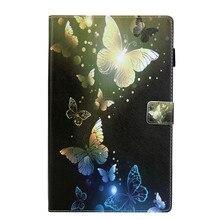 Für Amazon Kindle Feuer HD 10 2017 Tablet Fall Flip Cover Ständer Brieftasche Mit Karten slot Design ananas Schmetterling Einhorn kitty