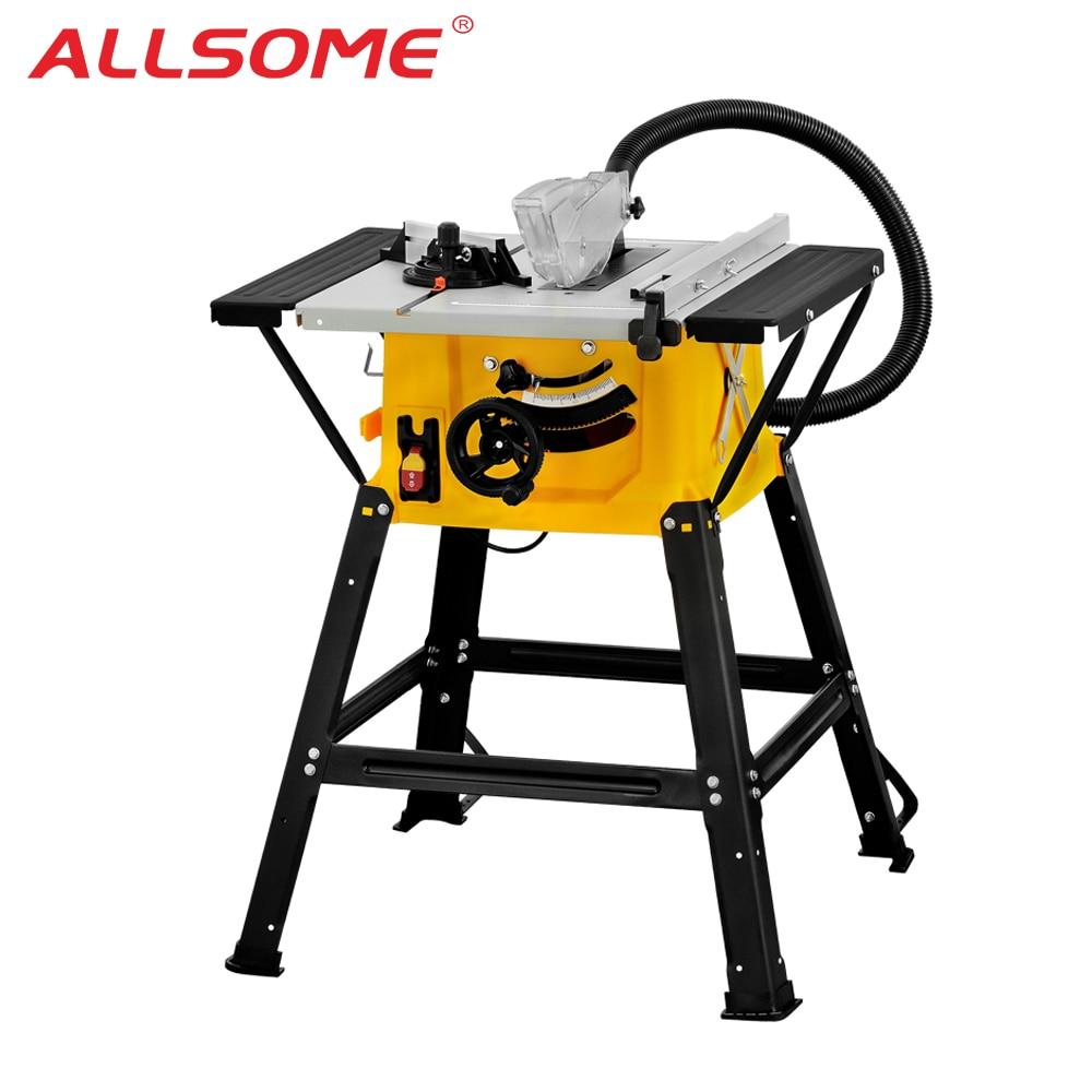 "ALLSOME 1500W 8"" Sliding Woodworking Table Saw 210mm DIY Woodworking Bench Circular Saw Electric Saw DIY Saw Cutting Tool"