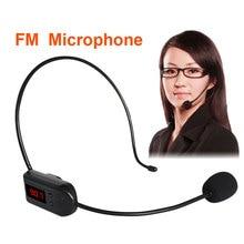FM Wireless Microphone Headset Megaphone Radio Mic For Loudspeaker Teaching Meeting Radio Mic for Tour Guide Salesman JUNKE MIC