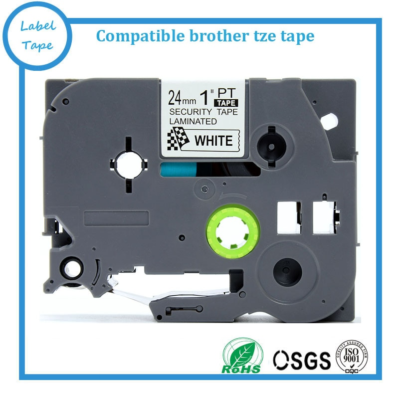 TZe شريط ملصقات أمان متوافق مع Brother Tze-SE5 Tze se5 Tz-SE5 P-Touch 24 مللي متر 8 متر