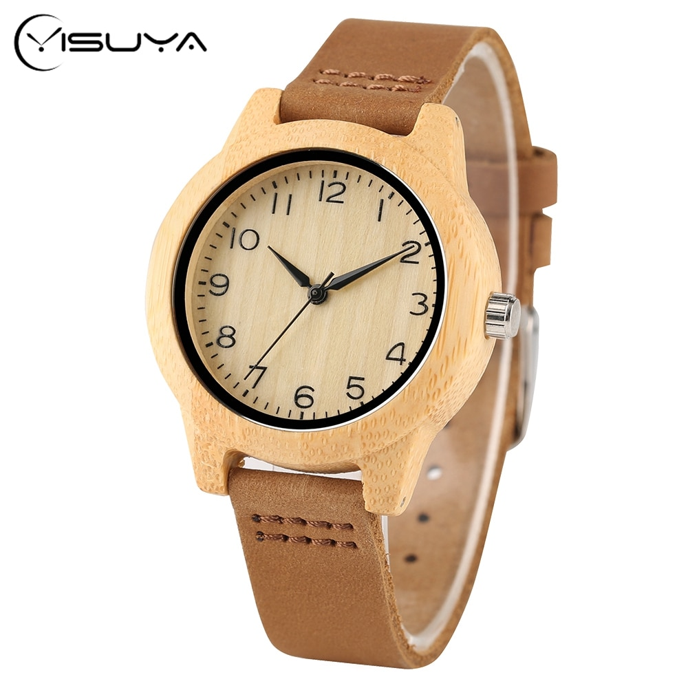 Minimalist Sport Women Wood Wrist Watch New Arrival Romas Numeral Dial Fresh Student Bamboo Quartz Watches relojes mujer enlarge