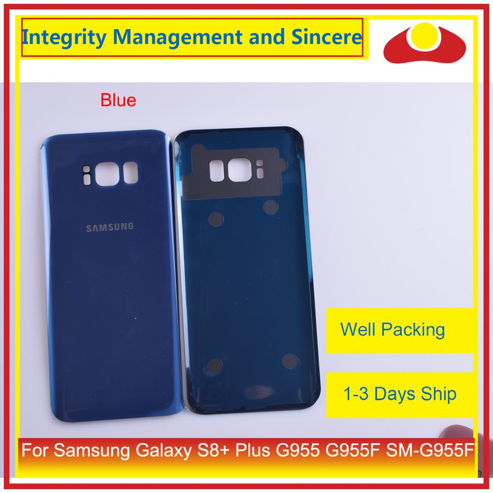 50Pcs/lot For Samsung Galaxy S8+ Plus G955 G955F SM-G955 Housing Battery Door Rear Back Glass Cover Case Chassis Shell enlarge