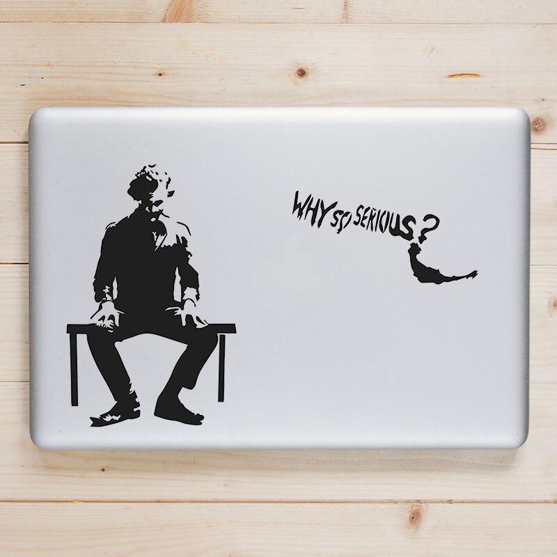 Joker, ¿por qué tan grave? Pegatina para portátil para Apple Macbook Pro 13, pegatina Air Retina 11 12 14 15 pulgadas, Mac Book Notebook Skin