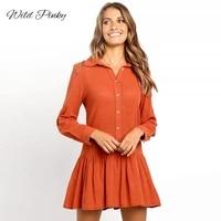 wildpinky long sleeve shirt dress 2020 summer boho beach dresses women ruffles a line autumn winter mini party dress vestidos