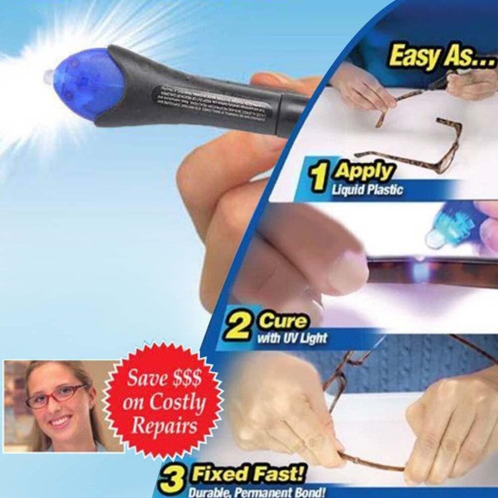 Быстрый 5 секундный УФ-свет для фиксации жидкого стекла сварочный клей-смесь инструмент для ремонта быстрого использования
