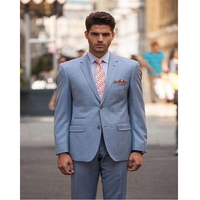 Blazer estilo informal a medida para padrinos de boda con solapa de dos botones para novio)
